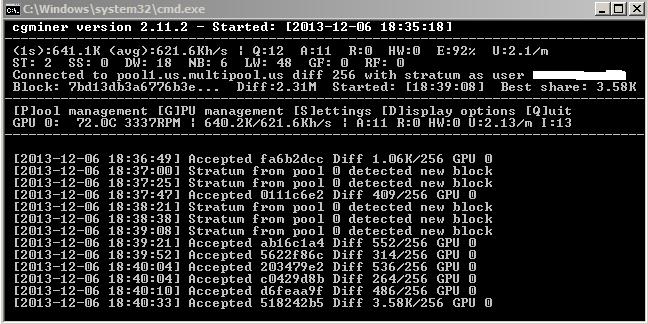 Cgminer настройка bat файла