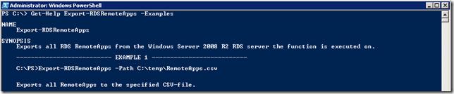 Export-RDSRemoteApps